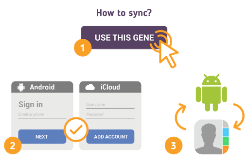 How to Sync Android with iCloud Contacts?