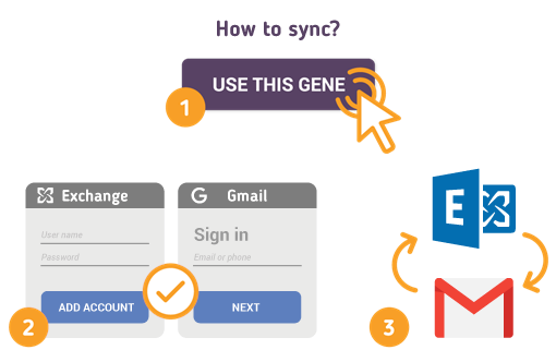 How to Sync Microsoft Exchange with Gmail?
