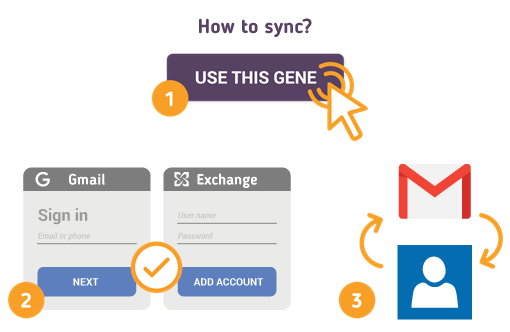 How to Sync Gmail with Exchange Contacts?