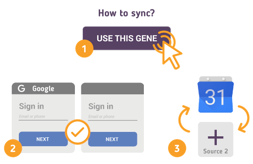 How to Synchronize your Google Calendar with SyncGene?