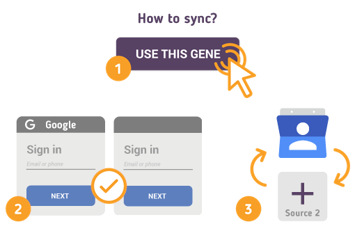 How to Synchronize your Google Contacts with SyncGene?
