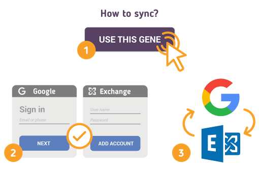 How to Sync Google with Microsoft Exchange?