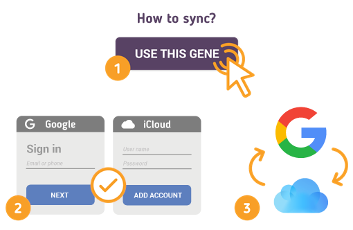 How to Sync Google with iCloud?