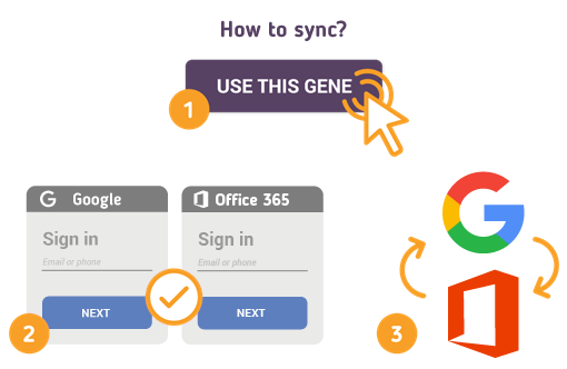 How to Sync Google with Office 365?