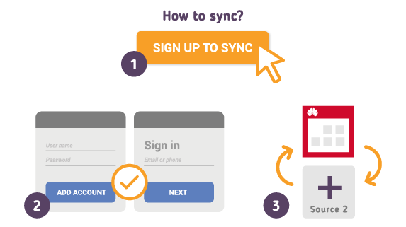 How to Synchronize your Huawei Calendar with SyncGene?