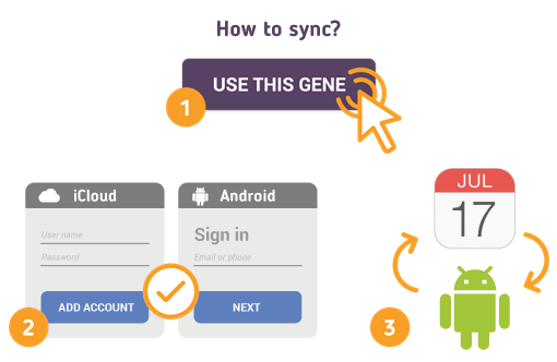 Sync iCloud Calendar with Android using Free SyncGene service