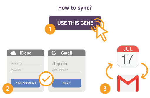 Sync iCloud Calendar with Gmail using Free SyncGene service