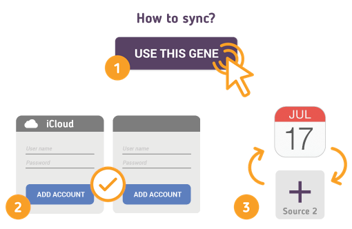 How to Synchronize your iCloud Calendar with SyncGene?