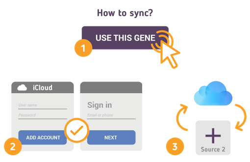 How to Synchronize your iCloud with SyncGene?