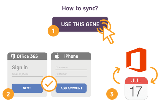 How to Sync Office 365 with iPhone Calendar?