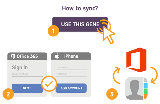 How to Sync Office 365 with iPhone Contacts?