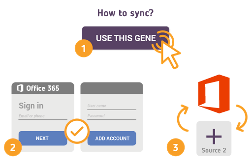 Sync Office 365 using Free SyncGene service