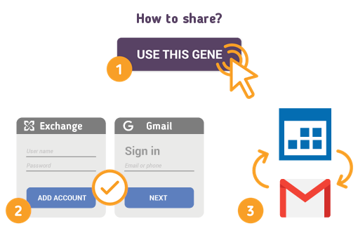 How to Share Exchange Calendar with Gmail?