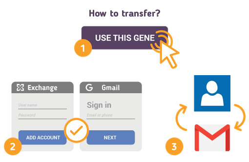 How to Transfer Contacts from Exchange to Gmail?